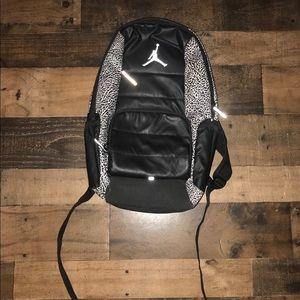 Air Jordan black white backpack school bag